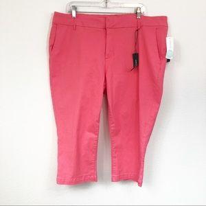 Market & Spruce Coral Maylee Capri Pants Sz 20